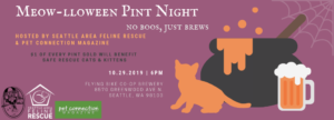 Meow-lloween Pint Night @ Flying Bike Cooperative Brewery